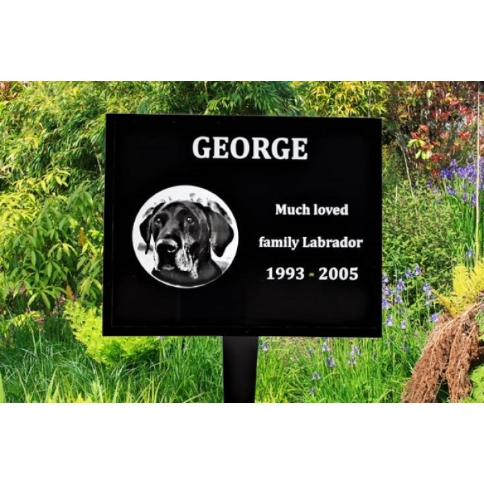 Pet Memorial Plaque with laser image