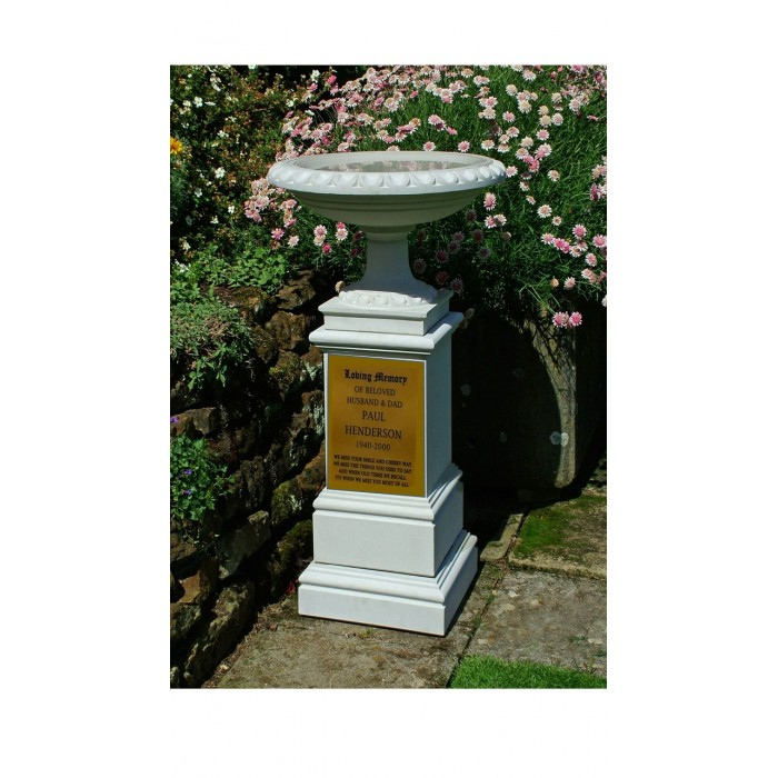 Memorial Bird Bath & Pedestal (Includes container for ashes)